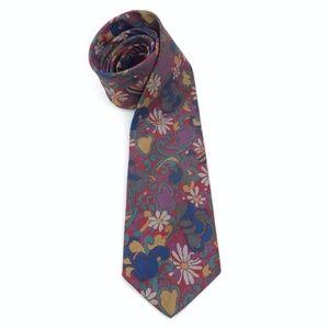 Vintage | Tie Floral Necktie Mens 60s Retro Bold